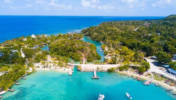 Aerial View Bond Beach Jamaica
